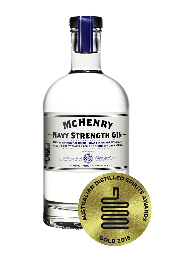 Mc Henry Distillery - Italia 700ml McHenry Navy Strength Gin-gold medal